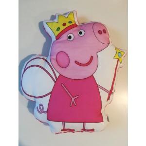 Poduszka maskotka Świnka Peppe+minky różowe (Z3127)