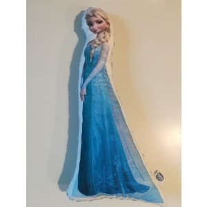 Poduszka maskotka Elsa Kraina Lodu+minky baby blue (Z3130)