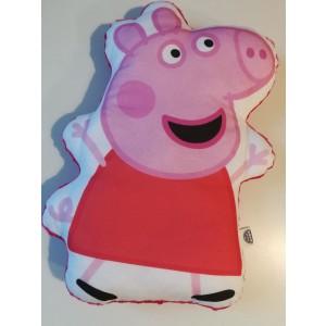 Poduszka maskotka Świnka Peppe+minky różowe (Z3126)