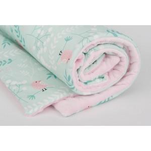 Kocyk minky króliczki/ minky jasny róż (Z0345)