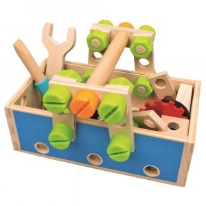 Bino - drewniana skrzynka z narzędziami (Z2650)