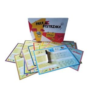 Paka dla Bystrzaka - Alfabet - karty do nauki z pisakiem suchościeralnym (Z2691)