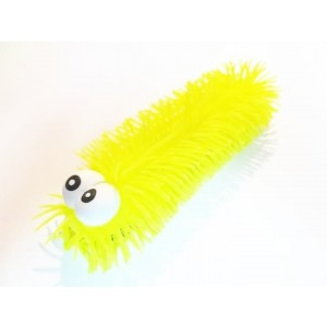 Gąsienica sensoryczna świecąca z zaczepką - żółta (Z2769)