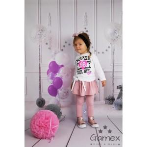 Gamex - Komplet bluzka+spodnie ze spódniczką COOL GIRL  rozm. 98