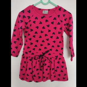 Sukienka Lily Grey w myszki fuksja Z2248