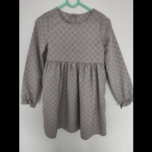 Sukienka szara w kropeczki Lily Grey Z2247