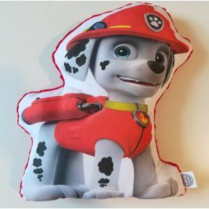 Poduszka Maskotka Psi Patrol - Marshall + minky czerwony (Z3362)