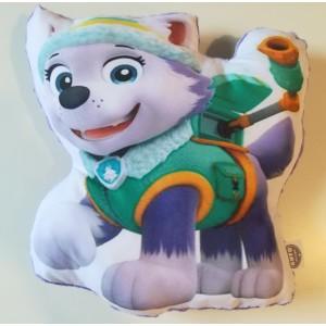 Poduszka Maskotka Psi Patrol - Everest + minky lawendowy (Z3363)