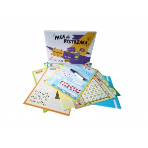 Paka dla Bystrzaka - Matematyka - karty do nauki z pisakiem suchościeralnym (Z2692)
