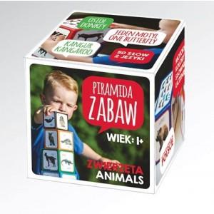 Piramida Zabaw - Wieża klocki edukacyjne Montessori - Zwierzęta (Z2961)