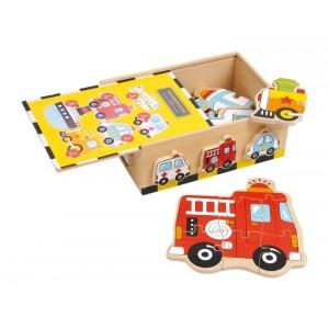 Puzzle drewniane - samochody (Z0011)