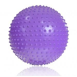 Piłka z wypustkami masującymi do ćwiczeń 65 cm - fioletowa (Z0051)