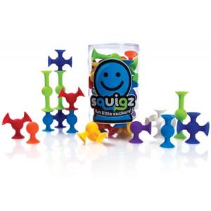 Fat Brain Toys Squigz klocki przyssawki - Zabawka roku 24 szt. (Z0164)
