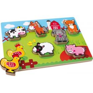 Small Foot Design - Puzzle drewniane - Farma (Z0265)