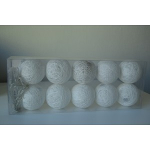 Cotton Balls - dekoracyjne kule ledowe 10 szt. - białe (Z0290)