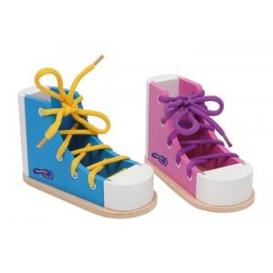 Small Foot 2 Drewniane buty do nauki sznurowania (Z0398)