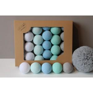 Cotton Balls - Oryginalne dekoracyjne kule 20 szt. Mint Pastel (Z0402)