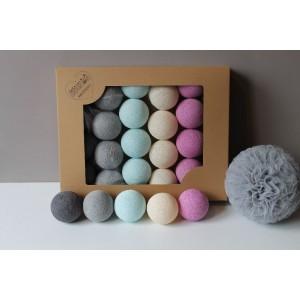 Cotton Balls - Oryginalne dekoracyjne kule 20 szt. Mellow (Z0409)