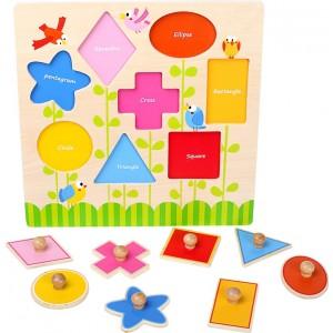 """Small Foot Design - Puzzle wkładanka geometryczna """"Kształty"""" (Z0421)"""