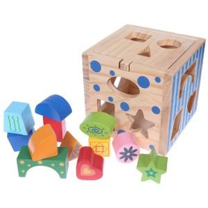 ECO TOYS - drewniany sorter - kostka edukacyjna (Z0438)