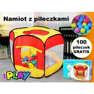 Namiot, suchy basen + 100 piłek (Z0447)