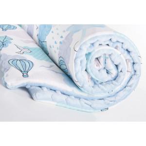 Kocyk minky balony/ minky baby blue (Z0460)