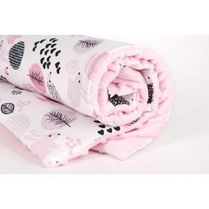 Kocyk minky jeżyki/ minky jasny róż (Z0527)