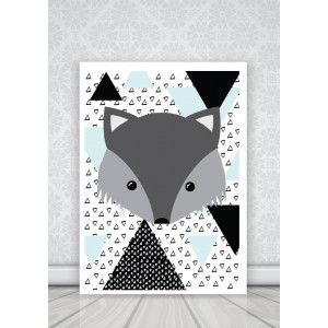 Poster plakat Wilk A4 + ramka (Z0560)