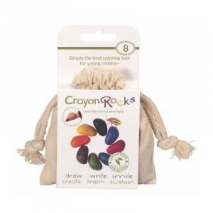 Kredki Crayon Rocks w bawełnianym woreczku - 8 kolorów (Z0615)