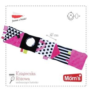 Mom's Care - Sensoryczna mała książeczka Zabawka Roku - różowa (Z0653)