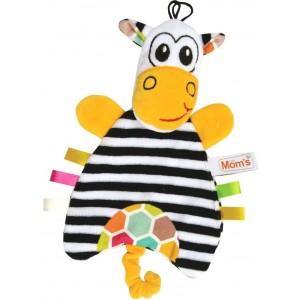Mom's - Sensoryczna pacynka Zebra (Z0666)