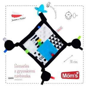 Sensoryczna szmatka z gryzakiem Mom's Care Zabawka Roku (Z0667)