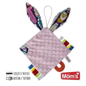 Mom's Care Hencz - szmatka szeleścik uszatek  - różowy (Z0679)