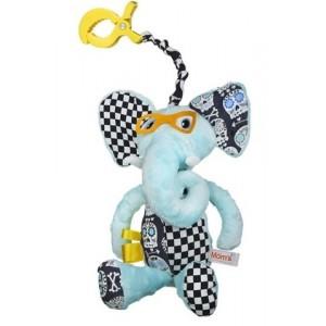 Mom's Care Hencz - Elefancik kolorowy wesoły słonik przytulanka - niebieski (Z0680)