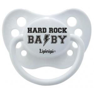 Smoczek uspokajający LIPINIPI 0-6 m-cy - HARD ROCK BABY (Z0702)