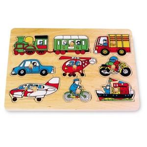 Small Foot Design Puzzle drewniane wkładanka - Pojazdy (Z0731)