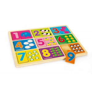 Small Foot Design Puzzle - Nauka liczenia (Z0734)