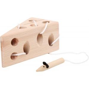 Small Foot Design Przeplatanka drewniana mała - serek z myszkami (Z0736)