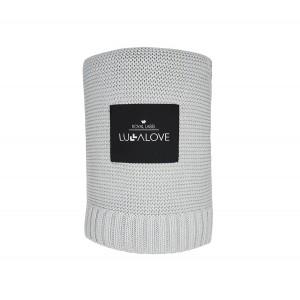 LULLALOVE -  Bambusowy koc tkany - Szary (Z0792)