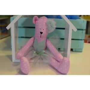Uroczy miś Tilda Handmade - różowy (Z0882)