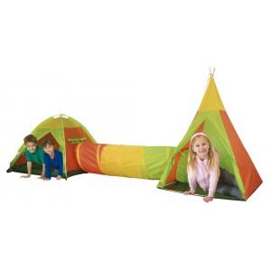 Zestaw namiotów 3w1 namiot + tunel+ wigwam (Z0913)