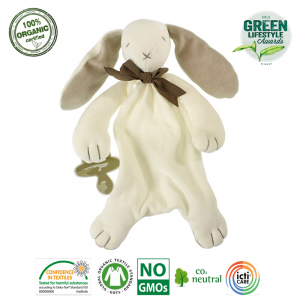 Maud N Lil - Ekologiczna organiczna przytulanka Królik beżowy (Z0926)