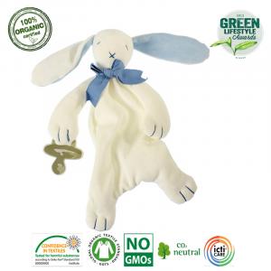 Maud N Lil - Ekologiczna organiczna przytulanka Królik niebieski (Z0927)