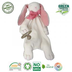 Maud N Lil - Ekologiczna organiczna przytulanka Królik różowy (Z0928)