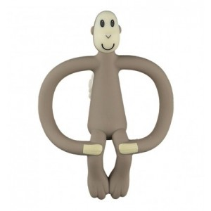 Matchstick Monkey - ekologiczny i bezpieczny gryzak ze szczoteczką masującą - Szary (Z0930)