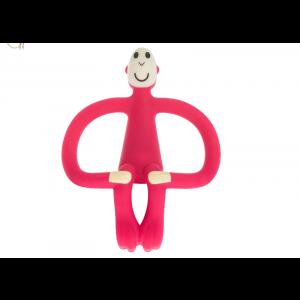 Matchstick Monkey - ekologiczny i bezpieczny gryzak ze szczoteczką masującą - Rubinowa czerwień (Z0931)
