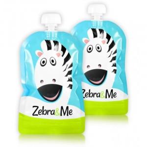 Zebra & Me ZEBRA 2 Pack - Wielorazowe saszetki do karmienia (Z0936)