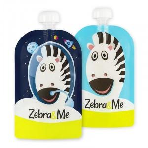 Zebra & Me ASTRO 2 Pack - Wielorazowe saszetki do karmienia (Z0937)