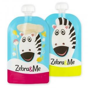 Zebra & Me CHEF 2 Pack - Wielorazowe saszetki do karmienia (Z0938)