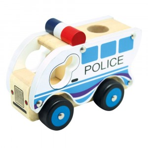Bino - drewniane autko - Policja (Z0967)